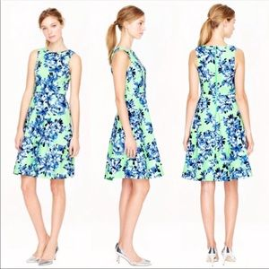 J. Crew Floral Fit and Flare Midi Dress Size 00